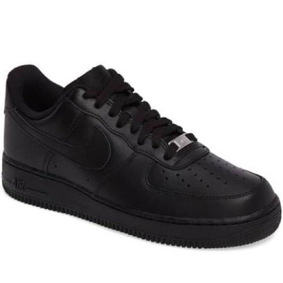 "Nike Air Force 1s. ""Black"", Men's Size 12."